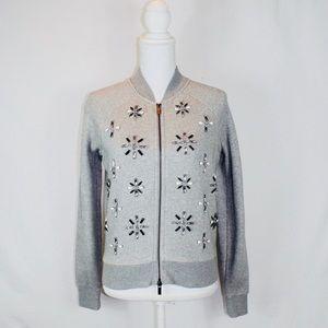 Banana Republic Embellished Knit Bomber Jacket